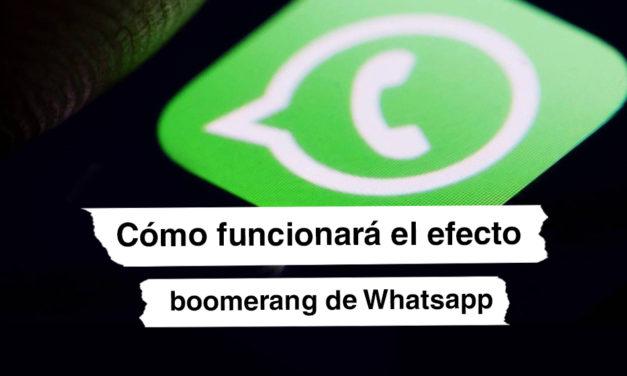 Cómo funciona el efecto boomerang que estará disponible en WhatsApp a partir de febrero